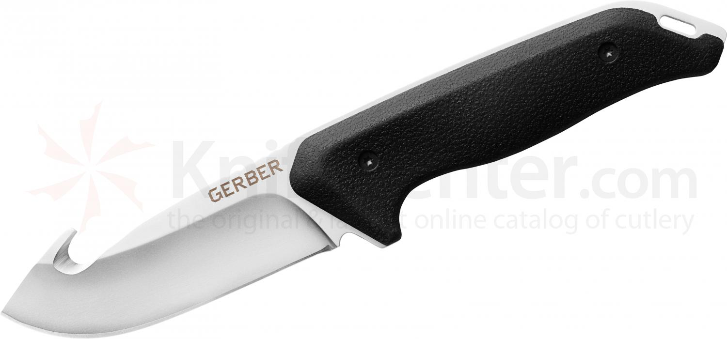 Gerber Moment Large Guthook Fixed 3.6 inch 5Cr15MoV Blade, Nylon Sheath