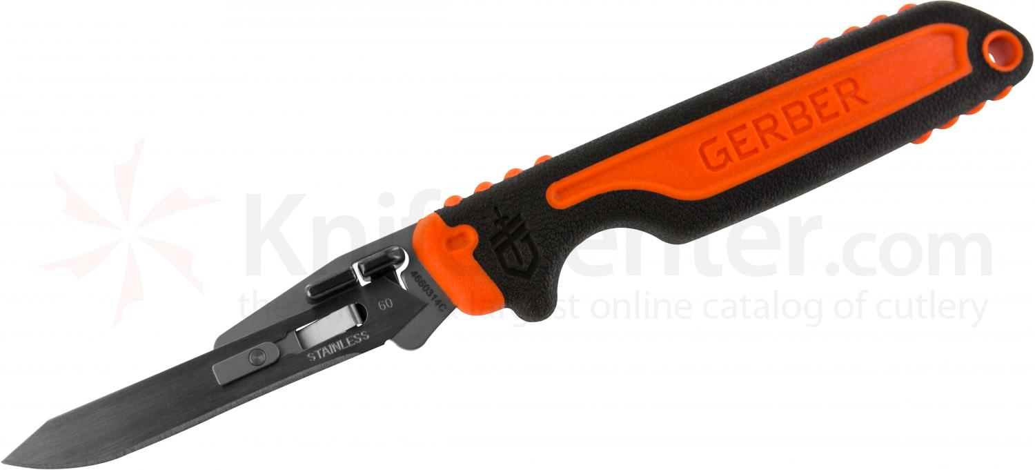 Gerber Vital Fixed 2.8 inch Exchange-A-Blade Knife, 7.2 inch Overall, Replaceable #60 Blades