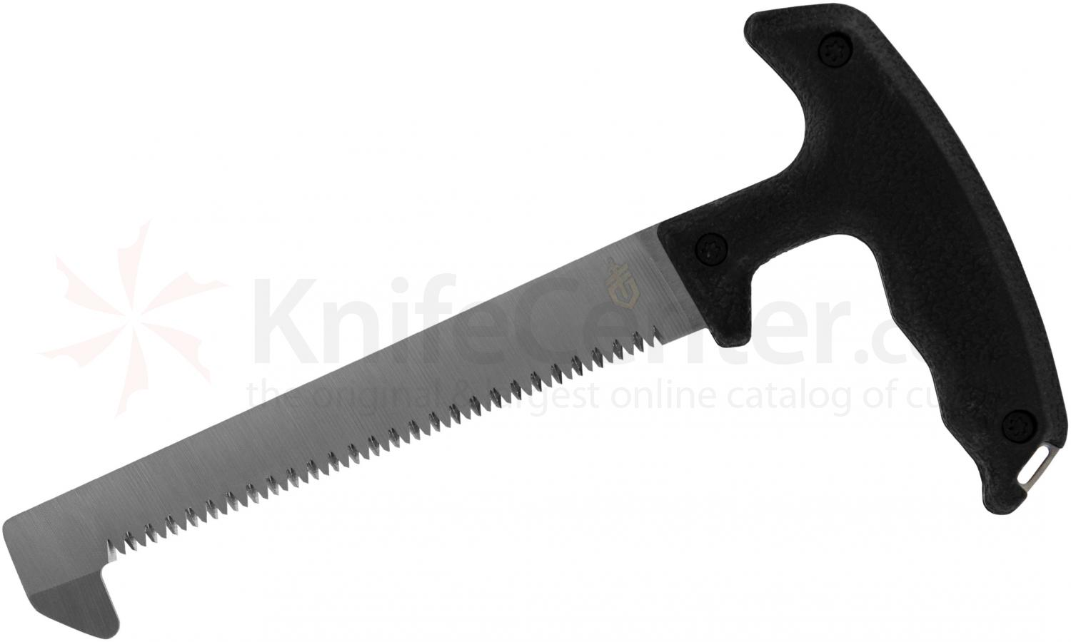 Gerber Moment Fixed Saw 5 inch SK5 Carbon Blade, Black Rubberized Handle