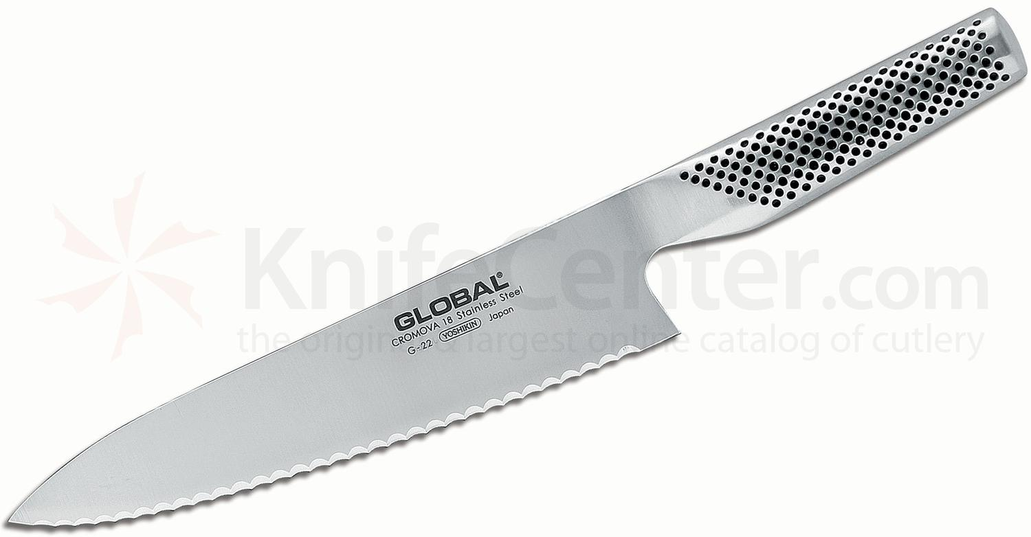 Global G-22 Kitchen 8 inch Bread Knife