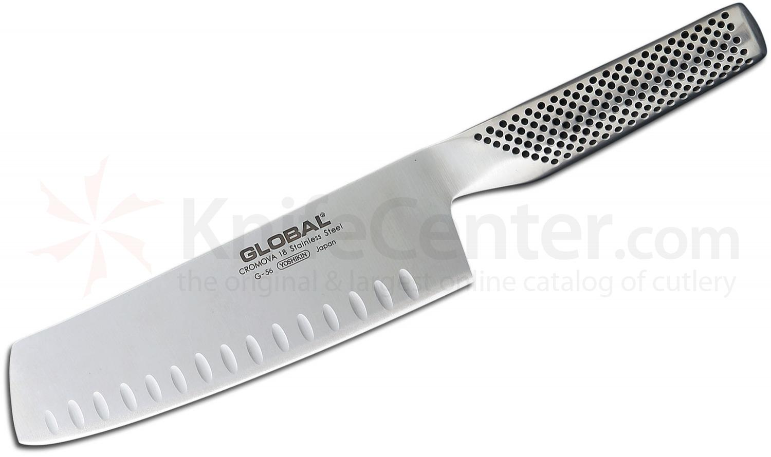 Global G-56 Kitchen 7 inch Granton Vegetable Knife
