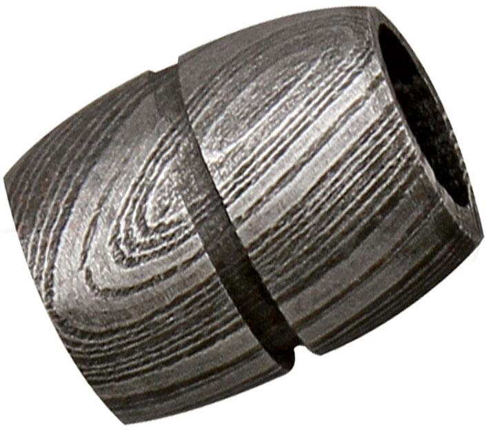 Grindworx Damascus Steel Bisect Single Groove Bead