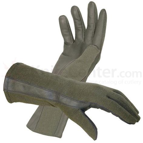 Hatch BNG220 Flight Gloves with Nomex, Foliage Green, XL