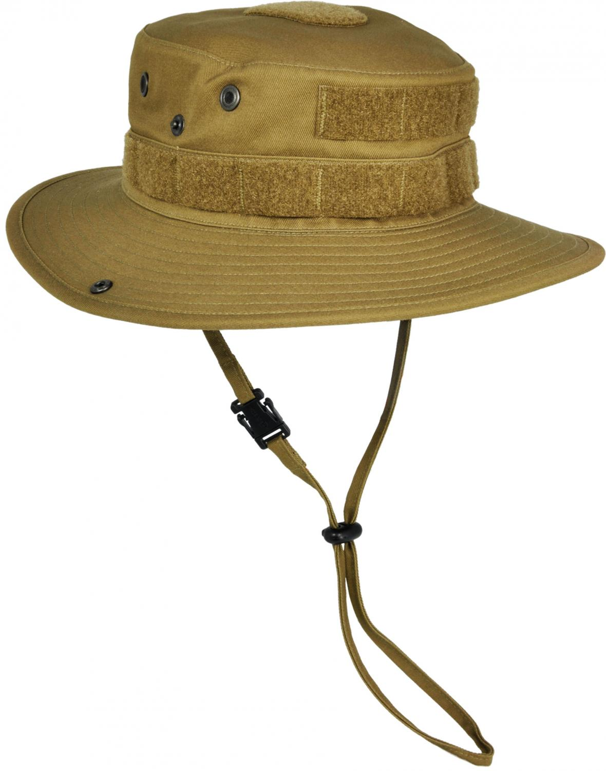 Hazard 4 SunTac Cotton Boonie Hat with MOLLE, Coyote, X Large 7.75 inch