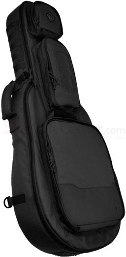 Hazard 4 Battle Axe Guitar-Shaped Padded Rifle Case, Black