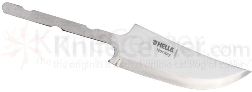 Helle Wind Knife Making Blade 3-3/8 inch Triple Laminated Stainless Steel, 6-1/4 inch Overall