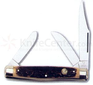 Hen & Rooster Stockman Stag Handles 3 Blades Stainless steel Blades