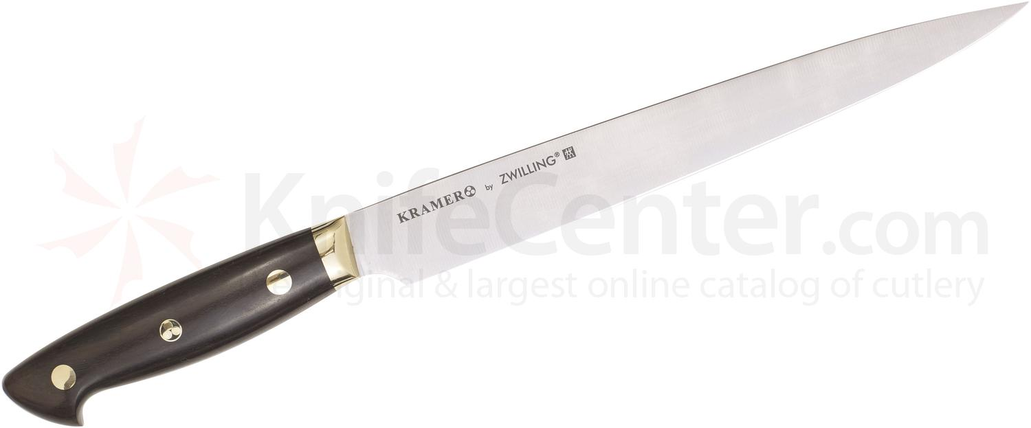 Zwilling J.A. Henckels EUROLine Bob Kramer 9 inch Slicing Knife, Grenadille Wood Handle