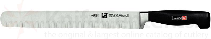 Zwilling J.A. Henckels TWIN Four Star 10 inch Hollow Edge Ham Slicing Round End Knife