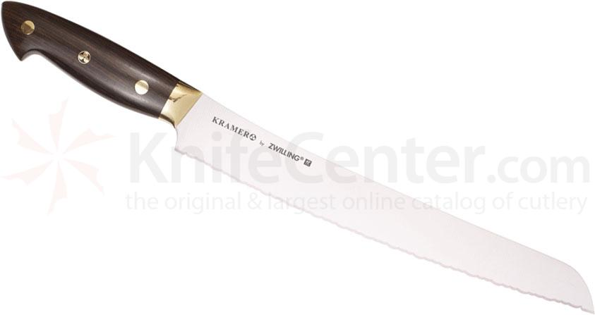 Zwilling J.A. Henckels EUROLine Bob Kramer 9 inch Bread Knife, Grenadille Wood Handle