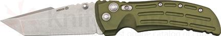 Hogue EX01 4 inch Tactical Tanto Blade with OD Green Aluminum Handles
