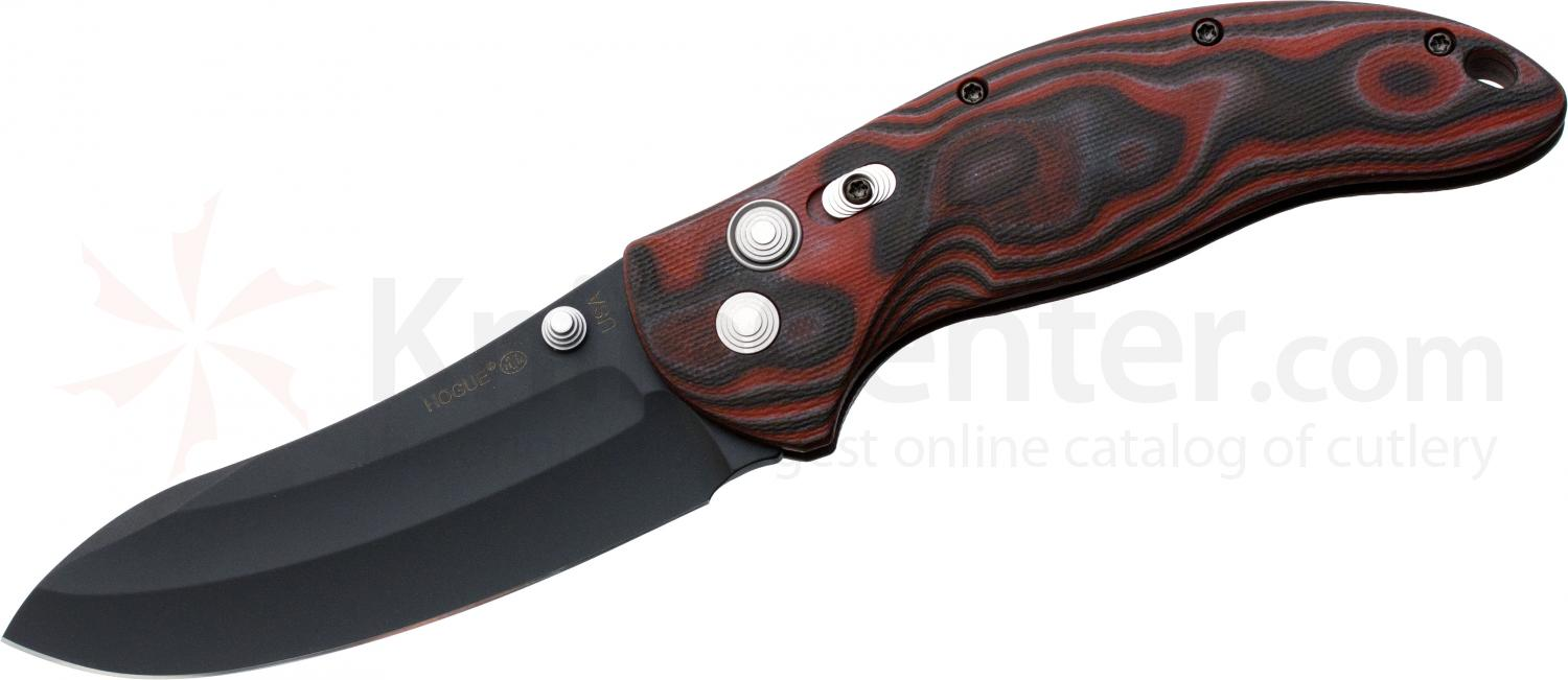 Hogue EX04 4 inch Tactical Upswept Blade with G-Mascus Red Lava G-10 Handles