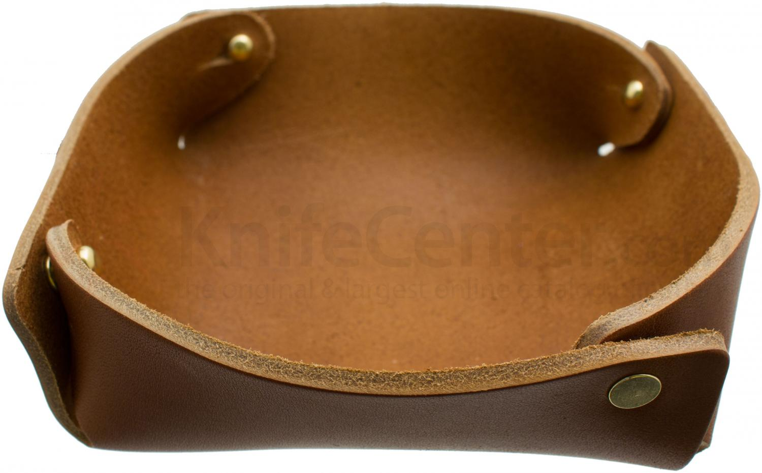 hollows leather panhandler edc valet tray light brown - Valet Tray