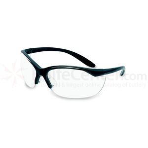 Howard Leight Vapor II Eye Protection, Black Frame, Clear Lens