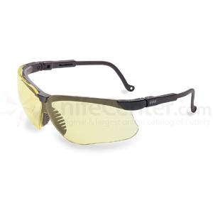 Howard Leight Genesis Eye Protection, Black Frame, Amber Lens