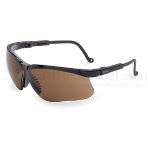 Howard Leight Genesis Eye Protection, Black Frame, Espresso Lens