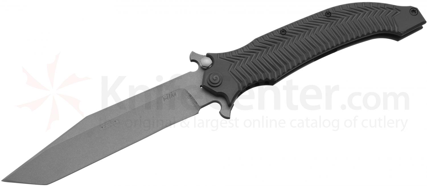 HTM Knives Darrel Ralph DDR AXD 5.5 Assisted Folder 5-1/2 inch Stonewashed S35VN Blade, Titanium Handles