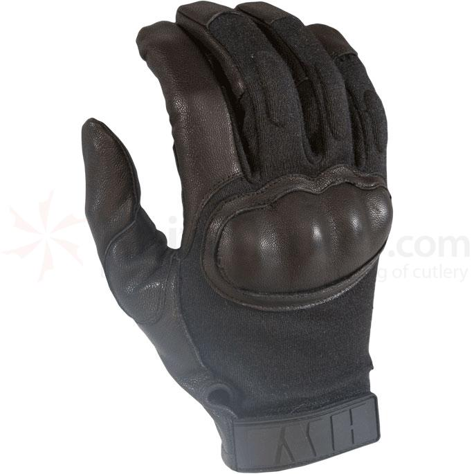 HWI HKTG100 Hard Knuckle Tactical Glove, Black, XLG