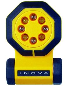 INOVA 24/7® Yellow Body LED Multi-Function Flashlight Emergency Light w/ Accessory Kit