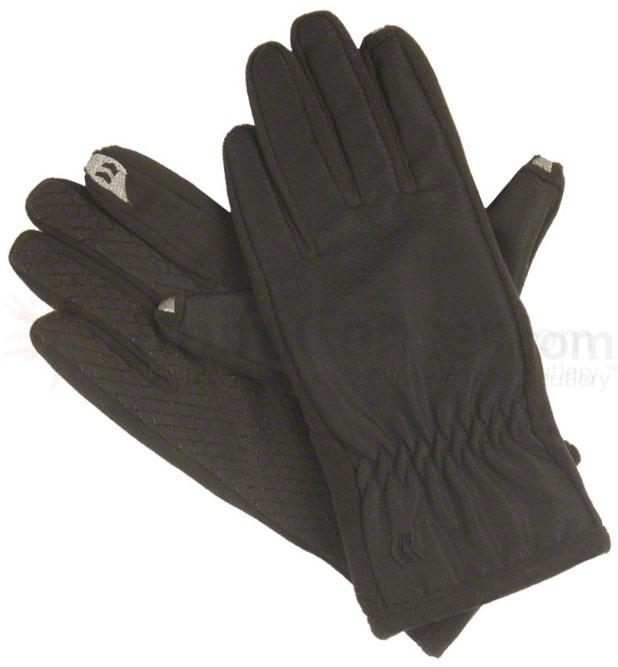ISOTONER Women's smarTouch Gloves - Ultra Plush Lined, Black, X-Small