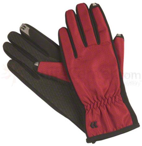 ISOTONER Women's smarTouch Gloves - Ultra Plush Lined, Red, X-Small