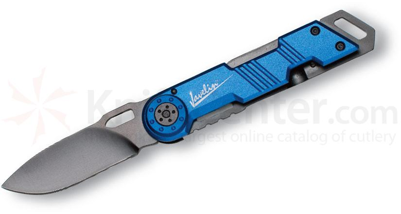Javelin by Timberline Frame Lock Work Knife 2.2 inch Blade, Blue Aluminum Handles