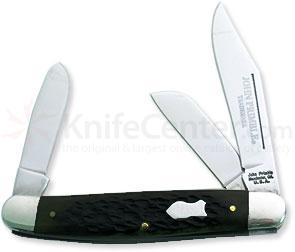 John Primble Stockman w/ 3 Stainless Steel Blades, Green Bone Handle