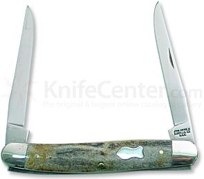 John Primble Muskrat w/2 Stainless Steel Blades, Stag Handle