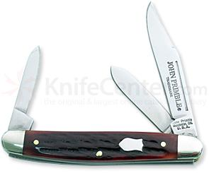John Primble Stockman w/ 3 Stainless Steel blades and Wine Bone Handle