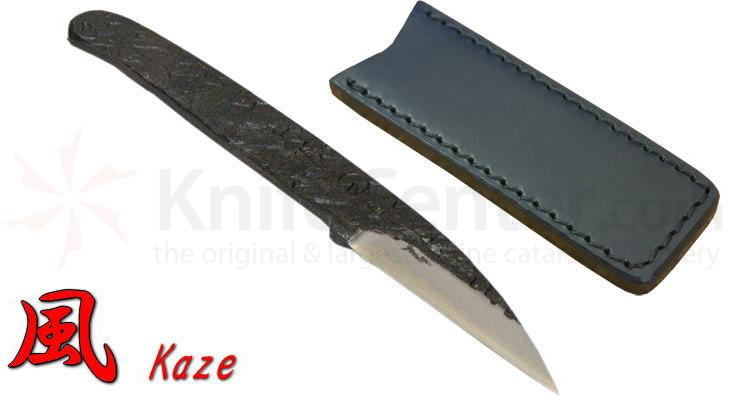 Kanetsune Kaze 2.56 inch Carbon White Steel Blade, Steel Handle