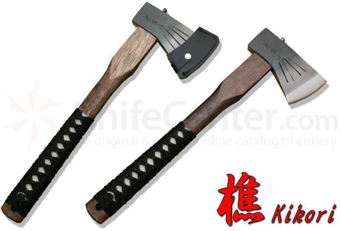 Kanetsune Kikori Hatchet 14.17 inch Overall, Oak and Shark Skin Handle (Tomahawk)
