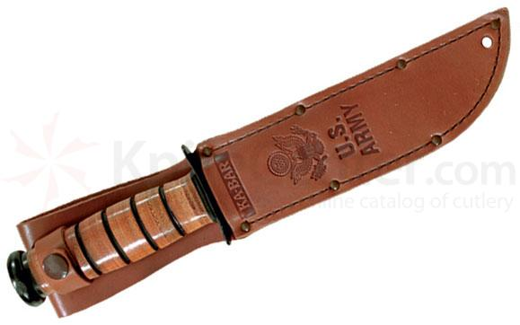 Ka Bar 1220 Us Army Fighting Knife 7 Quot Plain Blade Leather
