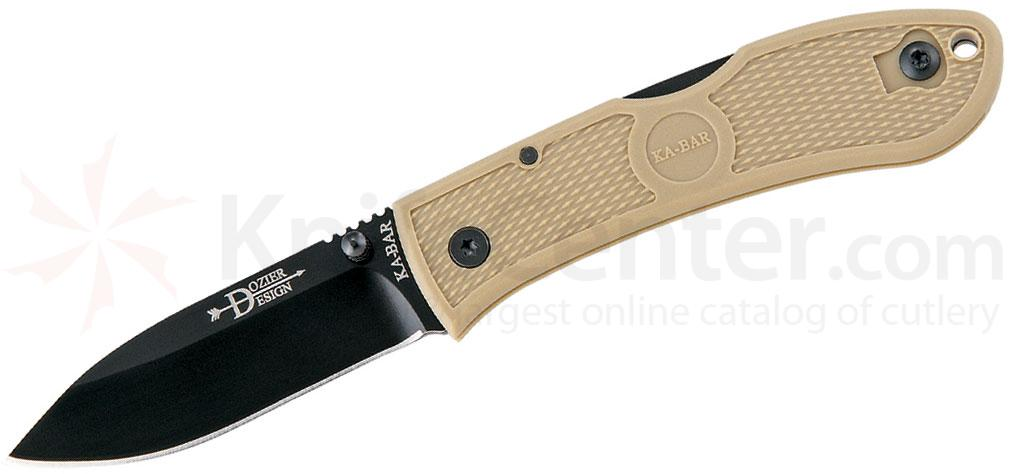 KA-BAR 4062CB Dozier Folding Hunter 3 inch Black Plain Blade, Coyote Brown