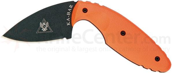 KA-BAR 1480BO TDI Law Enforcement Knife 2-5/16 inch Plain Blade, Blaze Orange Handles