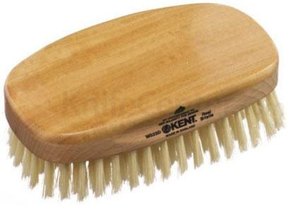 Kent Brushes MS23D Rectangular Satin and Beech Wood, Pure Soft White Bristle Brush