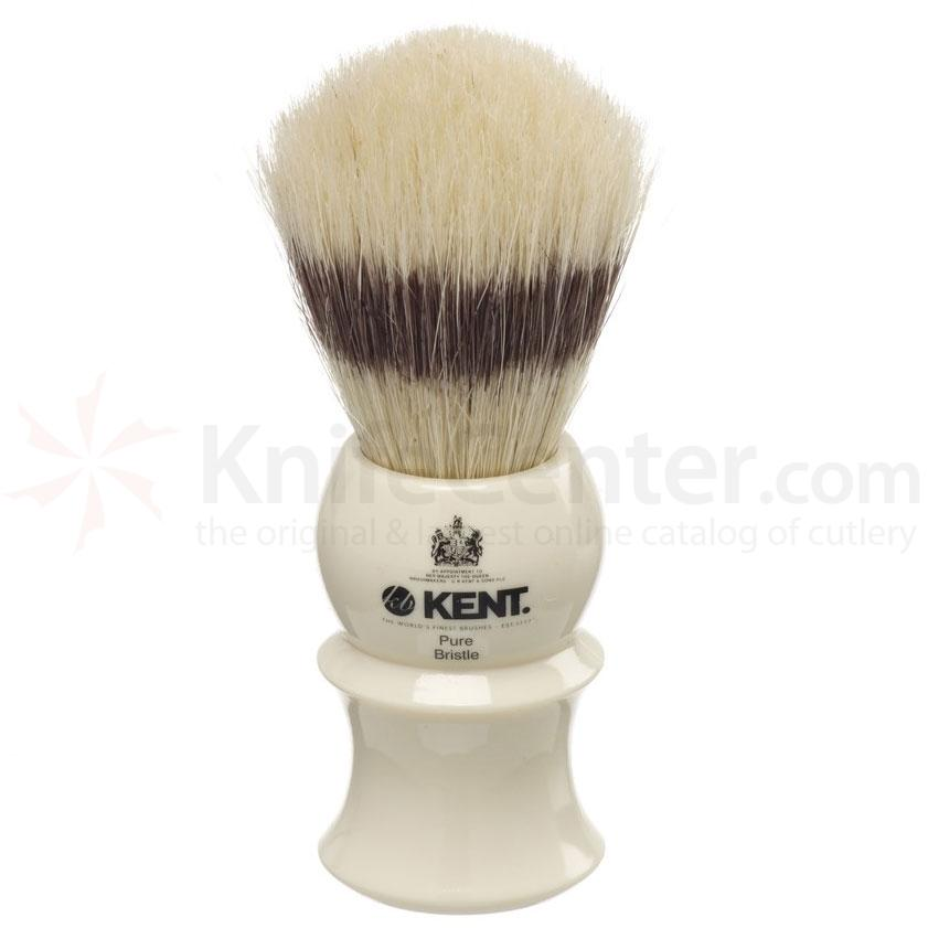 Kent Brushes VS30 Pure Bristle Badger Effect Shave Brush, Cream Handle
