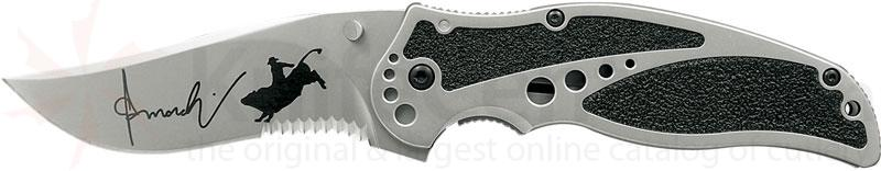 Kershaw Ken Onion Rodeo Storm 3-1/2 inch Combo Blade, Frame Lock