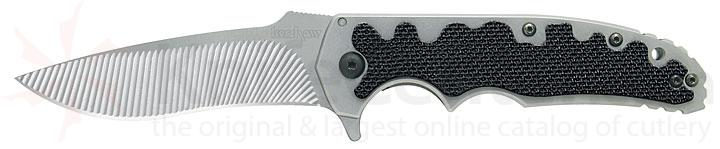 Kershaw Knives Groove Folder with 3-1/2 inch Sandvik Blade & Textured G-10 Handle