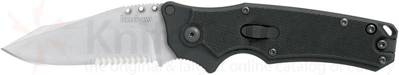 Kershaw RAM Flipper Hawk-Lock 3-1/8 inch Satin Combo Edge Blade
