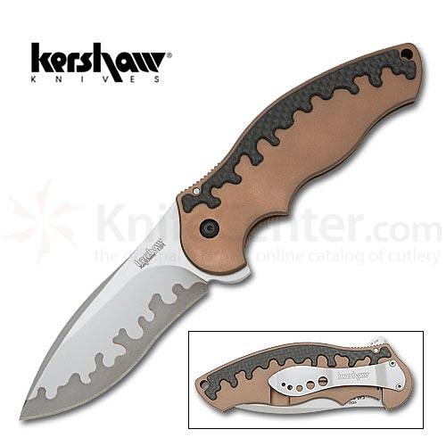 Kershaw Tyrade Assisted  3-5/8 inch Composite Blade, Titanium Handles
