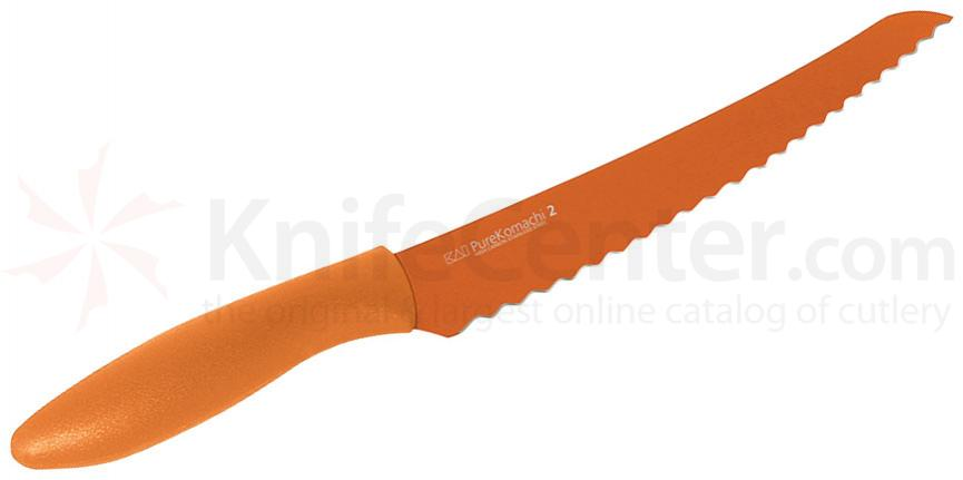 KAI Pure Komachi 2 Series (Orange) 8 inch Serrated Bread Knife (AB5062)