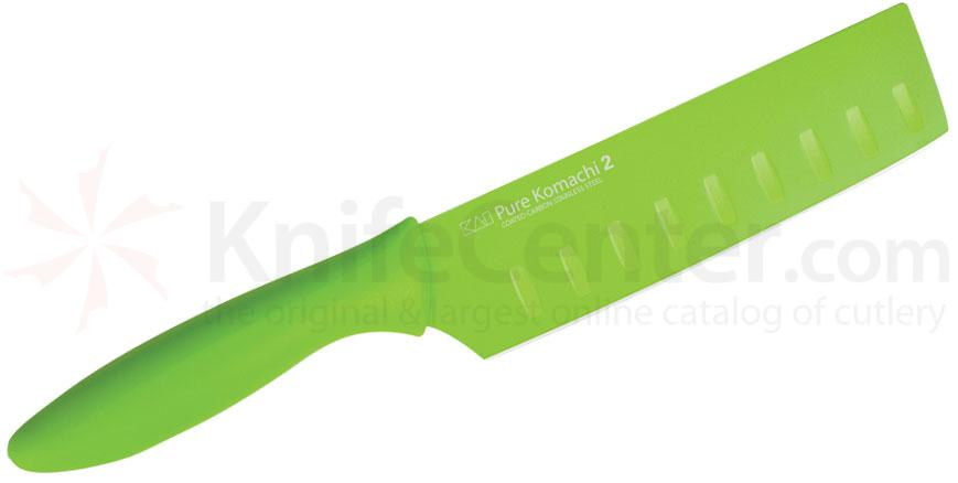 KAI Pure Komachi 2 Series (Green) 5-1/2 inch Nakiri Knife (AB5071)