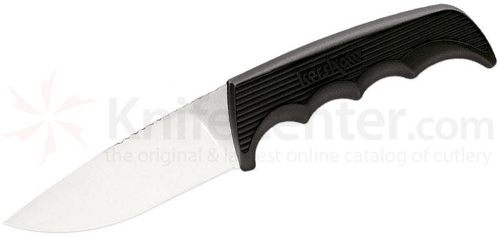 Kershaw 1028 Antelope Hunter II Fixed 3-5/8 inch Satin Blade, Black Handles