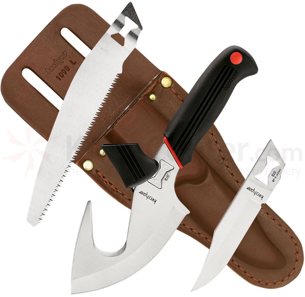 Kershaw 1098AK Alaskan Blade Trader with Hunting, Saw and Skinning Blades with Gut Hook