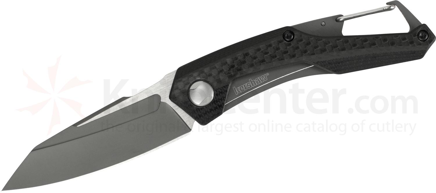 Kershaw 1220 Reverb Folding Knife 2.5 inch Two-Tone Sheepsfoot Blade, G10 Handle with Carbon Fiber Overlay