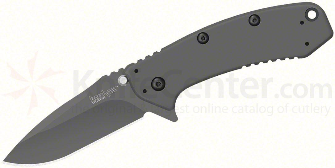 Kershaw 1555Ti Cryo Assisted Flipper Knife 2-3/4 inch Plain Blade, Rick Hinderer Framelock Design
