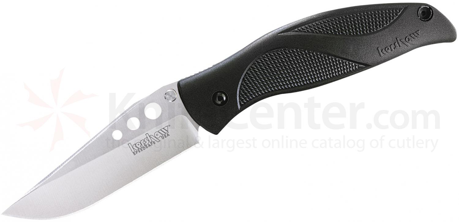 Kershaw 1560 Whirlwind Folding Knife Assisted 3-1/4 inch Satin Plain Blade, Polyimide Handles