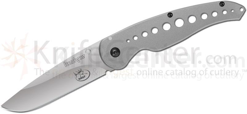 Kershaw Rocky Mt. Elk Foundation Vapor III Folding 3-1/2 inch Plain Blade, Steel Handles