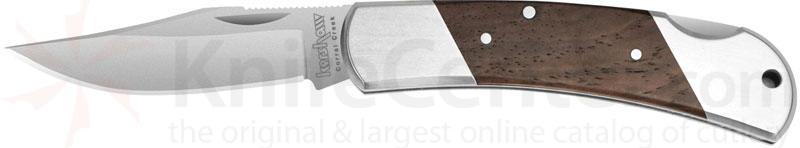 Kershaw Classic Corral Creek 2-1/2 inch Satin Blade, Hardwood Inlays