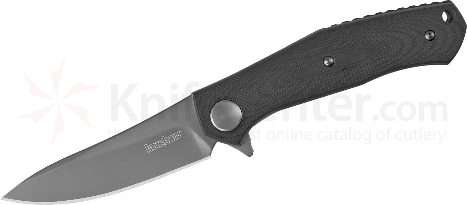 Kershaw 4020 Dmitry Sinkevich Concierge Flipper 3.25 inch Modified Drop Point Blade, Black G10 Handles